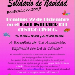 Mercadillo solidario a beneficio de la AECC.